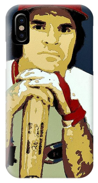 Pete Rose Poster Art IPhone Case