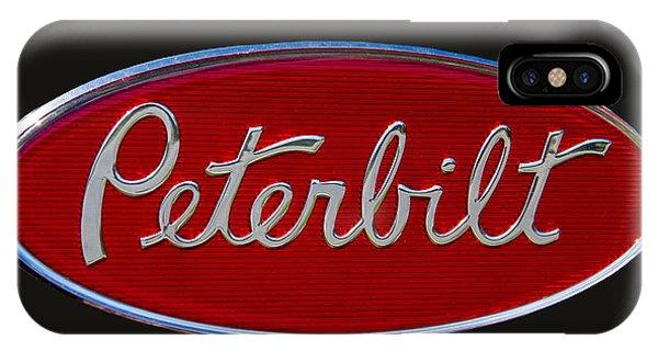 Truck iPhone X Case - Peterbilt Semi Truck Emblem by Nick Gray
