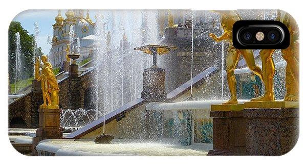 Peterhof Palace Fountains IPhone Case