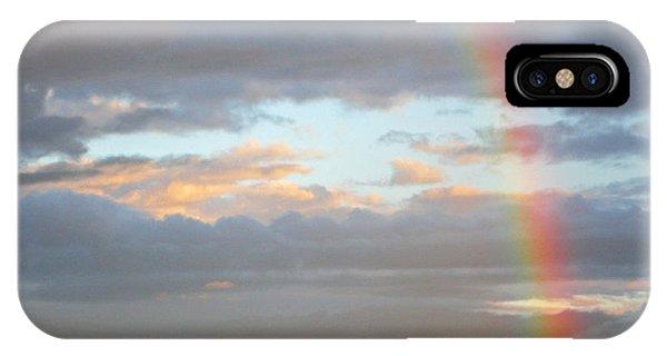 Peterson's Butte Rainbow Landscape IPhone Case