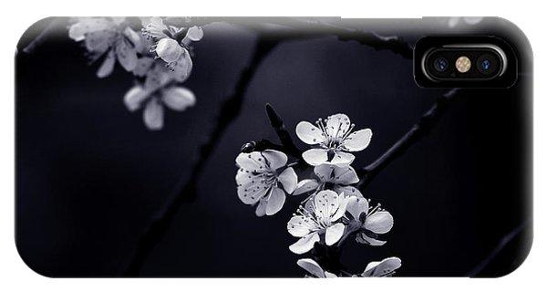 Macro iPhone Case - Petite Fleur De Mes Nuits by Celinem