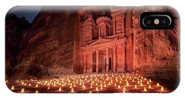 Sandstone iPhone Case - Petra By Night by Jes?s M. Garc?a