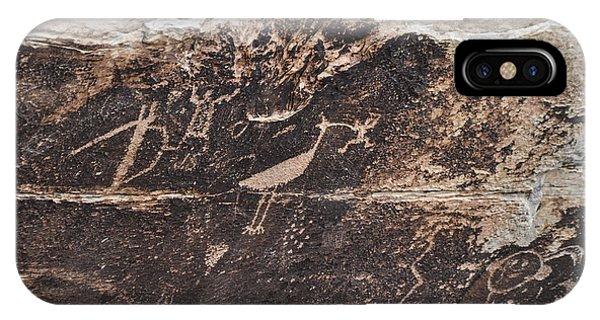 Petroglyph Bird IPhone Case