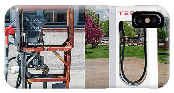 Petrol Pump And Electric Charging Point Phone Case by Jim West