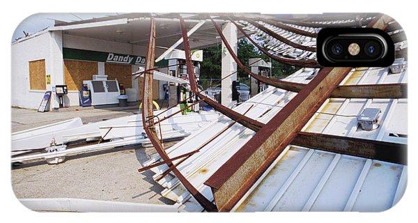 Katrina iPhone Case - Petrol Station After Hurricane Katrina by David Hay Jones/science Photo Library