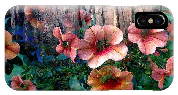 Petunias In The Forest IPhone Case