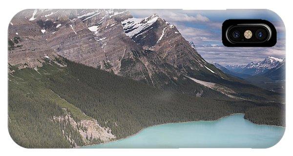 Peyto Lake And Caldron Peak Phone Case by Richard Berry