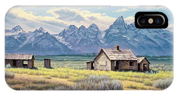 Teton iPhone Case - Pfeiffer Homestead-tetons by Paul Krapf