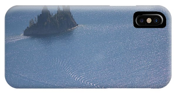 iPhone Case - Phantom Ship In Crater Lake In Crater by Phil Schermeister