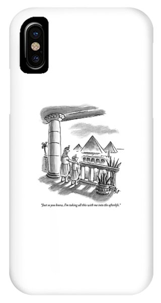 Pharaoh iPhone Case - Pharaoh To Son by Frank Cotham
