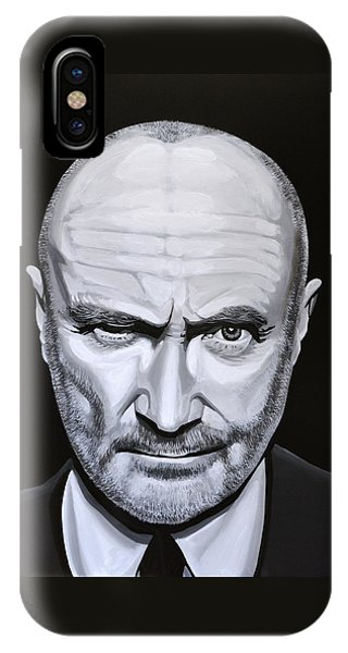 Trumpet iPhone Case - Phil Collins by Paul Meijering