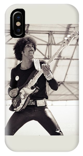 Phil Lynott Of Thin Lizzy Black Rose Tour At Day On The Green 4th Of July 1979 - Unreleased No 2 IPhone Case