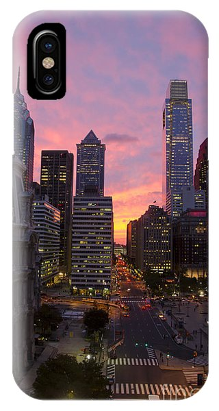 Philadelphia City Center At Sunset IPhone Case