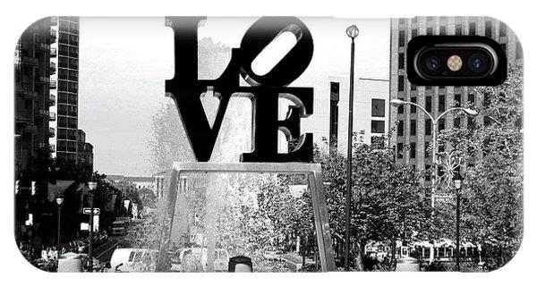 Philadelphia Love Bw IPhone Case