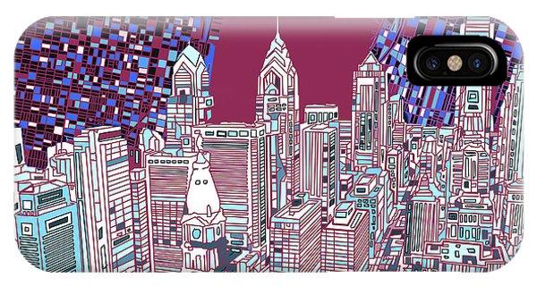Philadelphia Map Panorama 2 IPhone Case