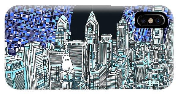 Philadelphia Map Panorama IPhone Case