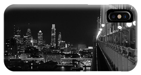 Philadelphia Night B/w IPhone Case