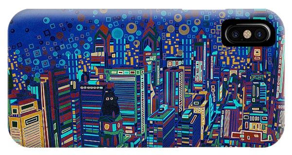 Philadelphia Panorama Pop Art 2 IPhone Case