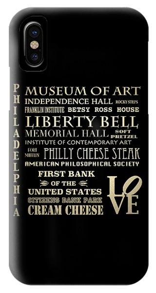 Philadelphia Pennsylvania Famous Landmarks IPhone Case