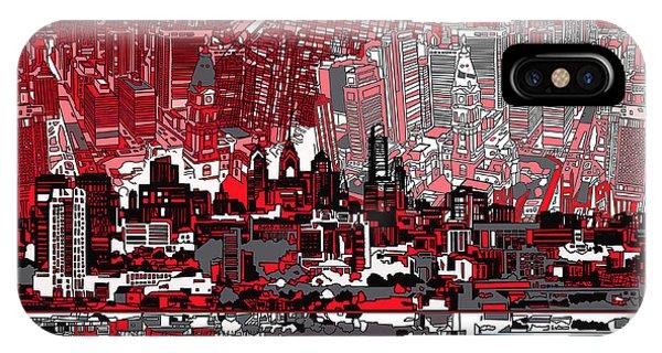 Philadelphia Skyline Abstract 4 IPhone Case