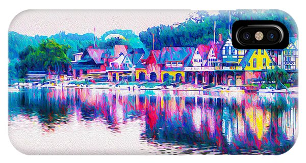 iPhone Case - Philadelphia's Boathouse Row On The Schuylkill River by Bill Cannon