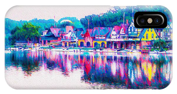 Philadelphia's Boathouse Row On The Schuylkill River IPhone Case