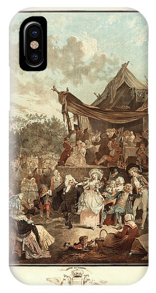 Oranger iPhone Case - Philibert-louis Debucourt, French 1755-1832, Le Menuet De by Litz Collection