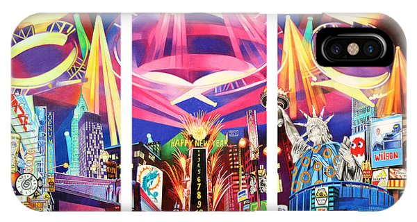 Phish New York For New Years Triptych IPhone Case