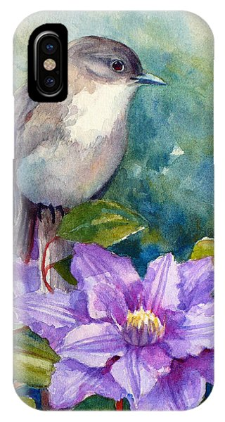 Phoebe And Clematis IPhone Case