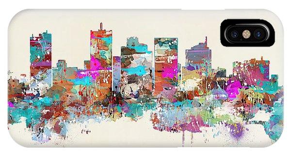 Florida iPhone Case - Miami Floria Skyline by Bri Buckley