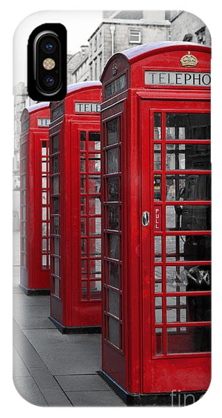 Phone Boxes On The Royal Mile IPhone Case