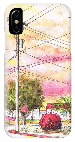 Phone Pole In Arroyo Grande - Californa IPhone Case