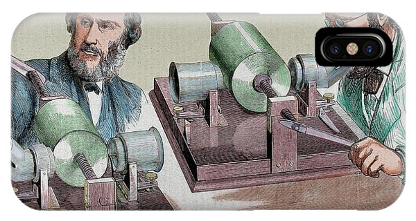 1877 iPhone Case - Phonograph Created In 1877 By Thomas by Prisma Archivo