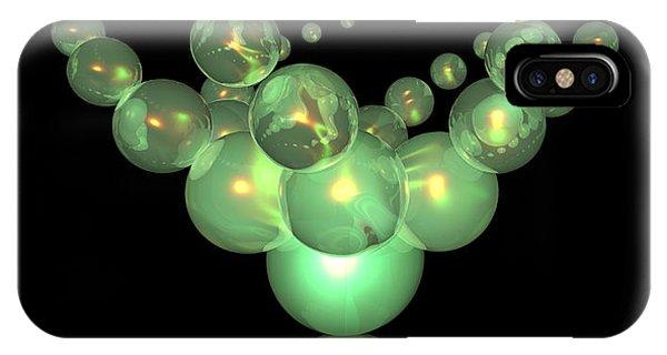 Phosphorescent Glass Twirl  IPhone Case