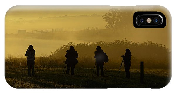 Photographers In The Mist IPhone Case