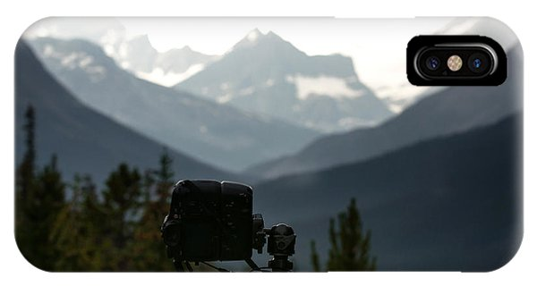 Behind The Scene iPhone Case - Photographing The Tonquin Valley by Cale Best