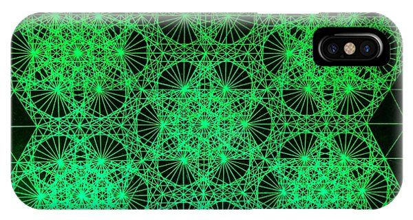Photon Interference Fractal IPhone Case