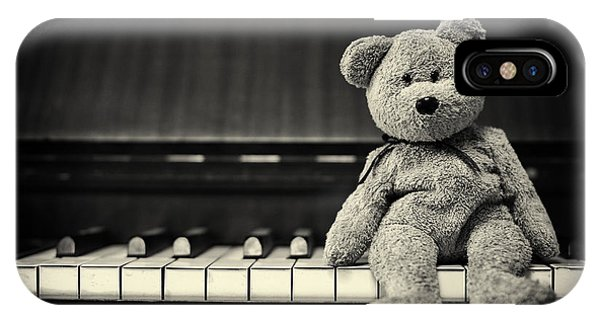 Piano Bear IPhone Case