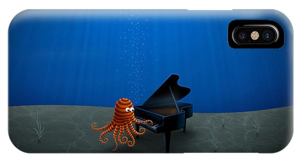 Piano Playing Octopus IPhone Case