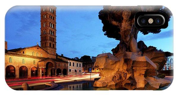 Piazza Della Bocca Della Verita' IPhone Case