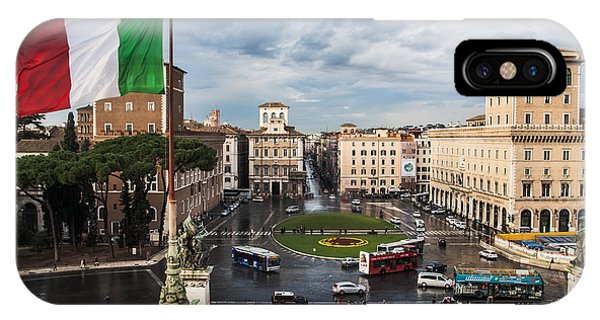 Piazza Venezia IPhone Case