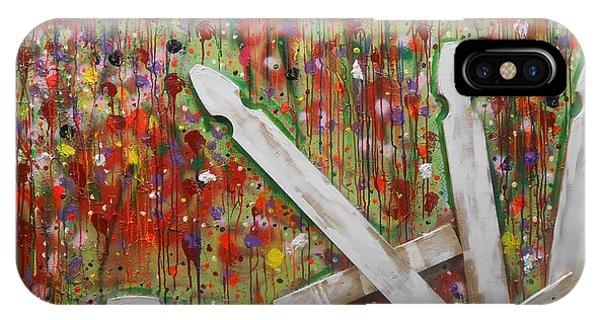 Picket Fence Flower Garden IPhone Case