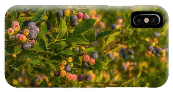 Pickin Blueberries IPhone Case