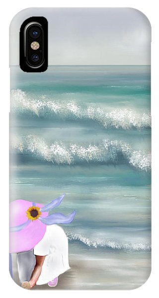 Picking Sea Shells  IPhone Case