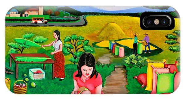 Picnic With The Farmers IPhone Case