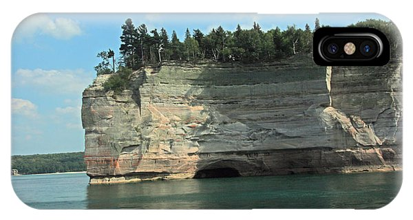 Pictured Rocks Battleship Formation Side View IPhone Case