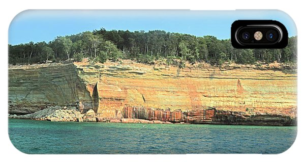Pictured Rocks Sunlight And Shadows Panorama IPhone Case