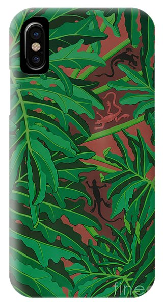 philodendron pictures - Lizard Leaves IPhone Case