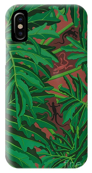 pictures of philodendrons - Lizard Leaves IPhone Case