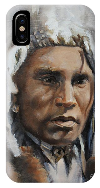 Piegan Warrior Portrait IPhone Case